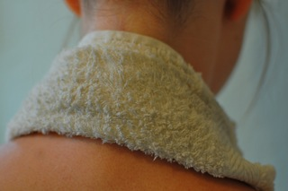 hot towel on neck