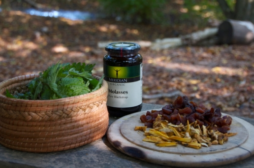 Ingredients for iron tonic.